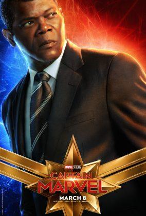 captain marvel poster samuel l jackson 284x420 - Los Personajes de Capitana Marvel