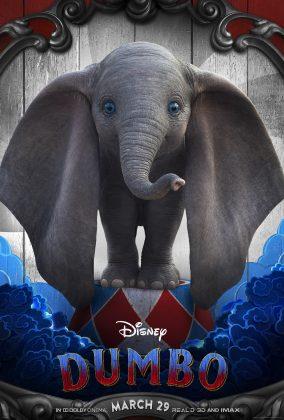 dumbo poster 284x420 - Los Personajes de Dumbo de Disney