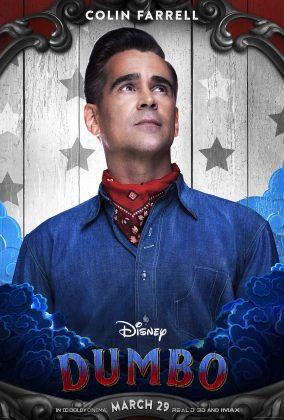 dumbo poster colin farrell 284x420 - Los Personajes de Dumbo de Disney
