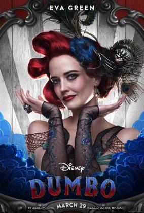dumbo poster eva green 284x420 - Los Personajes de Dumbo de Disney