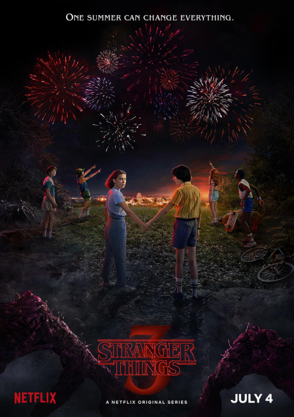 stranger things season 3 poster - La Tercera Temporada de Stranger Things se estrena el 4 de Julio