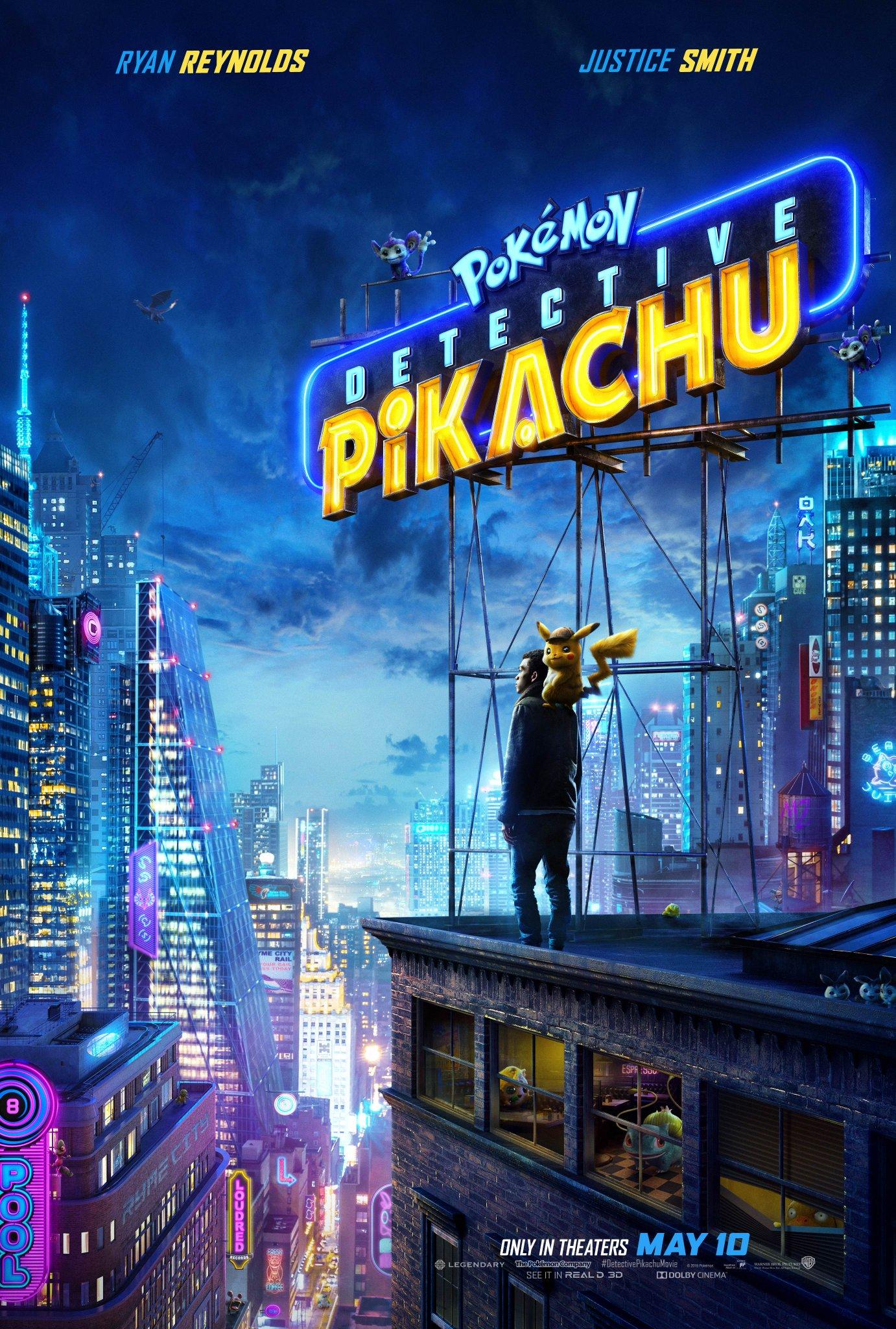 pokemon detective pikachu poster - Segundo trailer oficial de Pokémon: Detective Pikachu