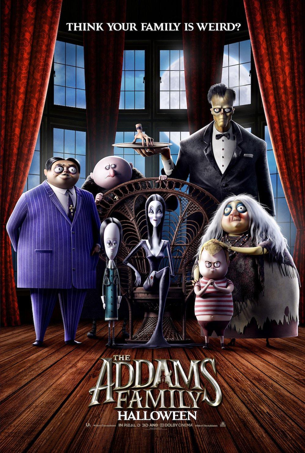 the addams family movie poster - Trailer de la película animada de Los Locos Addams