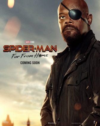 spider man far from home poster samuel l jackson 336x420 - Horribles Pósters con los Personajes de Spider-Man: Lejos de Casa