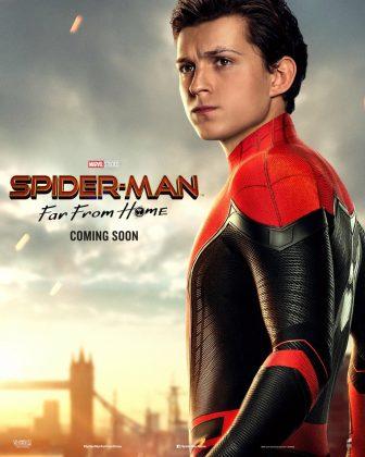 spider man far from home poster tom holland 336x420 - Horribles Pósters con los Personajes de Spider-Man: Lejos de Casa