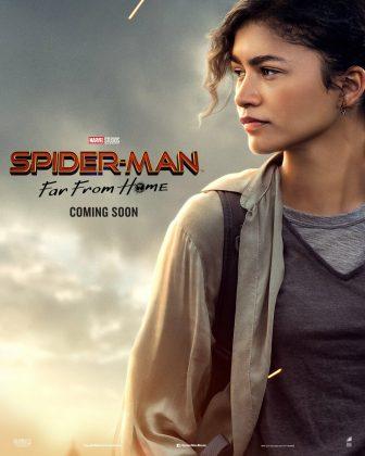 spider man far from home poster zendaya 336x420 - Horribles Pósters con los Personajes de Spider-Man: Lejos de Casa