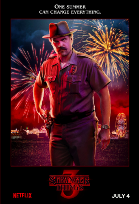 stranger things season 3 poster david harbour 287x420 - Stranger Things Temporada 3: Personajes
