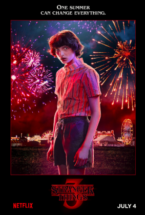 stranger things season 3 poster finn wolfhard 283x420 - Stranger Things Temporada 3: Personajes