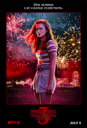stranger things season 3 poster sadie sink 285x420 - Stranger Things Temporada 3: Personajes