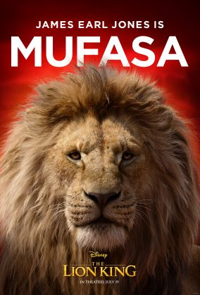 the lion king poster mufasa 284x420 - Los Personajes de El Rey León Live Action