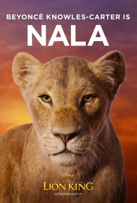 the lion king poster nala 284x420 - Los Personajes de El Rey León Live Action