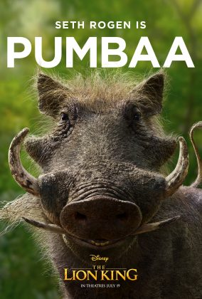 the lion king poster pumbaa 284x420 - Los Personajes de El Rey León Live Action