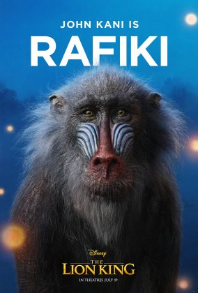 the lion king poster rafiki 284x420 - Los Personajes de El Rey León Live Action