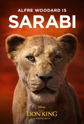 the lion king poster sarabi 284x420 - Los Personajes de El Rey León Live Action