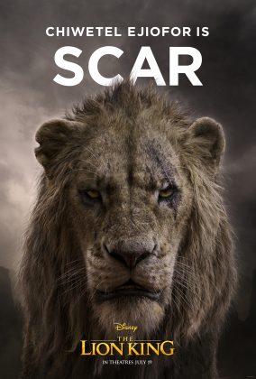 the lion king poster scar 284x420 - Los Personajes de El Rey León Live Action