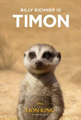 the lion king poster timon 284x420 - Los Personajes de El Rey León Live Action