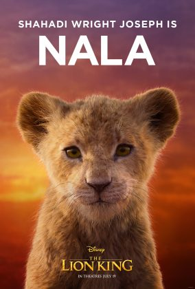 the lion king poster young nala 284x420 - Los Personajes de El Rey León Live Action