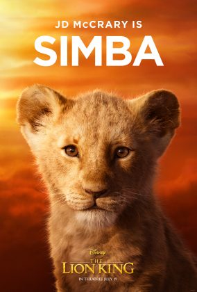 the lion king poster young simba 284x420 - Los Personajes de El Rey León Live Action