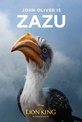 the lion king poster zazu 284x420 - Los Personajes de El Rey León Live Action