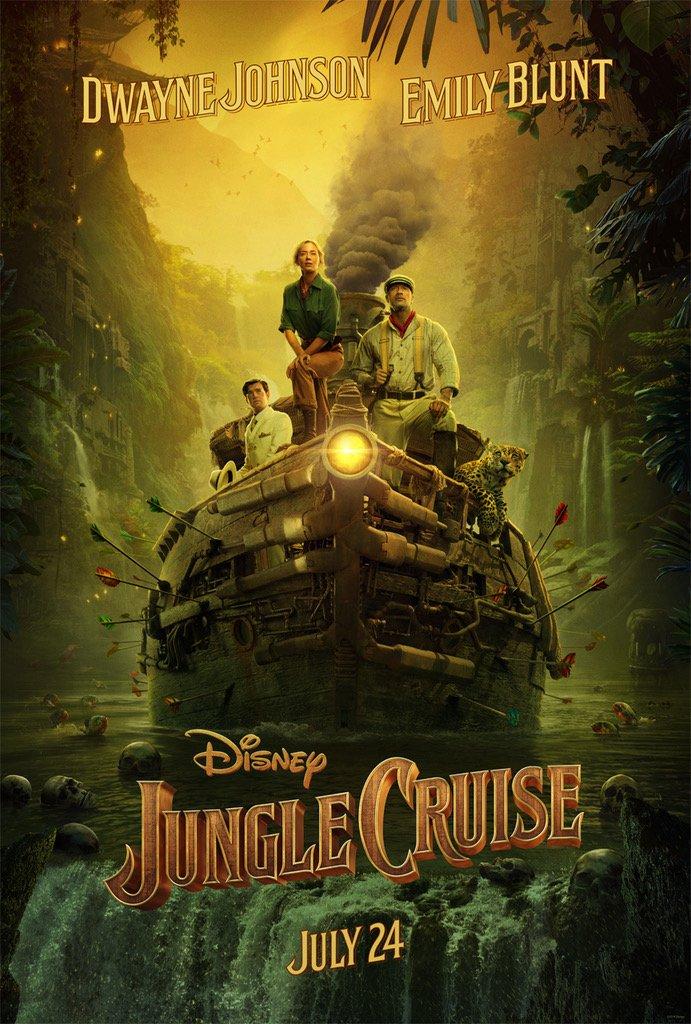 Jungle Cruise póster en inglés - Teaser trailer oficial de Jungle Cruise